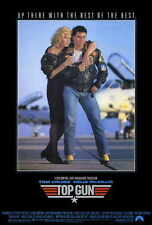 TOP GUN Movie POSTER 27x40 B Tom Cruise Kelly McGillis Val Kilmer Tom Skerritt
