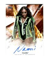 WWE Naomi 2019 Topps Undisputed Orange On Card Autograph SN 92 of 99