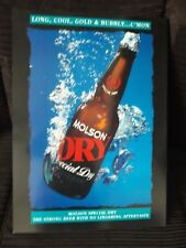 MOLSON DRY ,ADVERTISING PICTURE, SIZE 50CM X 65CM, SEE PICTURES