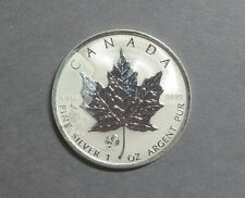 1 OZ Silver 2005 $5 CANADIAN Maple Leaf Coin, Rooster Privy, 9999 Pure Silver.