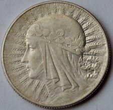 5 Zlotych 1933, Queen Jadwiga Poland, Silver coin