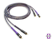 Analysis Plus Solo Crystal Oval RCA Audio Interconnect Cables 1 meter Pair