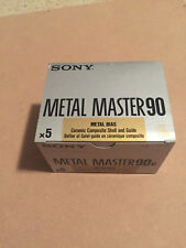 Box of 5 New Sealed Sony Metal Master 90 Cassettes Tapes Type IV Made in Japan
