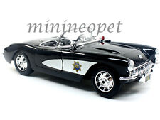 MAISTO 31380 1957 CHEVROLET CORVETTE 1/18 HIGHWAY PATROL POLICE CAR BLACK