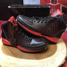 Adidas D Rose 3 J Black Red Bred G23691 Sz 7 Basketball Jordan Lebron Bulls Cavs