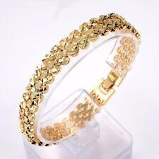 "18K Yellow Gold Filled Mens/Womens Bracelet 7.8""11mm watch Chain Link GF Jewelry"