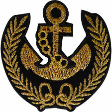 Anchor Patch Iron Sew On Navy Sailor Fancy Dress Costume Hat Embroidered Badge