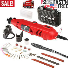 107 PIECE Accessories Populo Set Variable Speed Rotary Cutter Tool Kit Grinder