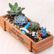 22CM Rectangle Wooden Garden Planter Window Box Trough Pot Succulent Flower Beds