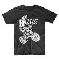 Men's BMX Shirt - BMX Rider Skeleton Cool Bike T-Shirt