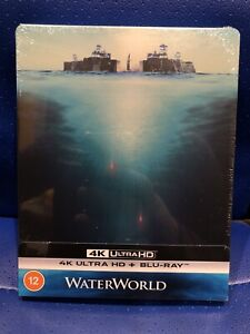 NEW SOLD OUT WATERWORLD 4K ULTRA HD STEELBOOK INCLUDES 2D BLU-RAY FACTORY SEALED