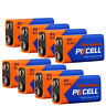 10x PKCELL 9V Block Ultra Alkaline Battery Lot Model 6LR61 6F22 MN1604 EXP.2028