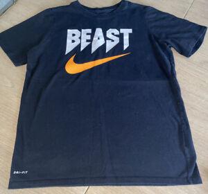 Nike Beast Shirt Youth Size Extra Large XL Athletic Cut Black Short Sleeve Tee