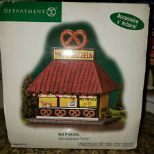 Dept 56 Christmas In The City Hot Pretzels Light Up Stand