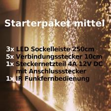 Led Sockelleiste Starterpaket Mittel / Lichtleiste / Fußleiste / plug and play
