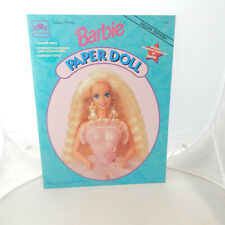 Barbie Deluxe Edition Paper Doll New Uncut 1994 Golden Books Stand Up Portrait