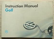 VOLKSWAGEN VW GOLF Car Owners Manual Handbook Sept 1993 #941.551.1H1.20