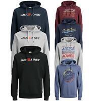 Mens Sweatshirt Hoodies Jack & Jones Logo Print Long Sleeve Jumper Pullover Top