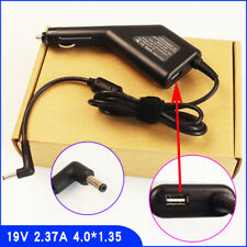 Laptop Car DC Adapter Charger & USB For ASUS UX31A-1AR7/i7-3517U  X541UA-RH71