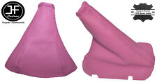 PINK LEATHER FITS OPEL VAUXHALL CORSA C COMBO 2001-2006 HANDBRAKE GEAR GAITER