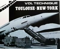 CONCORDE VOL TOULOUSE NEW YORK 1977 FRANCE   FEUILLET PHILATÉLIQUE CEF 89