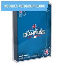 Topps NOW Chicago Cubs World Series 15 Card Set with AUTOGRAPHED CARD