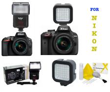 SPEED LIGHT FLASH ZOOM SWIVEL + 36 LIGHT LED FOR NIKON D3500 D5600 D7200 D500