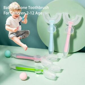 2-12 Age Baby U-shaped Silicone Toothbrush Cleaning And Care Toothbrush Oral*
