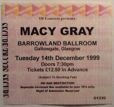 Macy Gray Original Genuine Used Concert Ticket Barrowlands Glasgow 1999