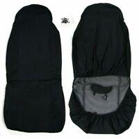 Universal Front Car/Van Seat Covers Protectors Black Heavy Duty Waterproof T3M4