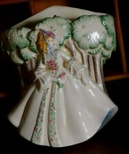 More details for beautiful art deco clarice cliff lady anne wall pocket 1930'