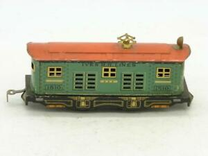 Ives O Gauge Narrow Gauge Tin Litho 1810 Box Cab Eletric Engine Runs