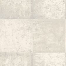 PANNELLO Metallico in Metallo Argento E Crema Carta Da Parati Caratteristica Muro Nuovo Wall Decor