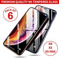 [6 paquete] Gorila Protector de Pantalla de Vidrio Templado Para Nuevo iPhone XS Max XR XS X