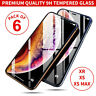 [6-Pack] Gorilla Tempered Glass Screen Protector for New iPhone XS Max XR XS X