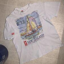 VTG Sailing T Shirt CANTERBURY NEW ZEALAND Sz L - DISTRESSED Single Stitch Rugby