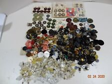 Vintage Lot 3.75 lbs Mixed Large Buttons Plastic Celluloid Glass Mixed Colors