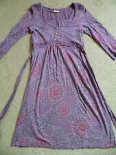 WHITE STUFF TUNIC DRESS SIZE 10 PINK PURPLE FLORAL COTTON