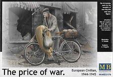 "1/35 Master Box 35176  ""The Price of War"" European Civilian 1944-1945 with Bike"