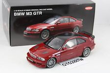 Kyosho 1:18 scale BMW E46 M3 GTR - Carbon Roof with CSL wheels (Red)