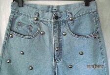 Women Vintage Studded Hi-Waist Denim Jean Shorts-DELILAH Presents PAMELA