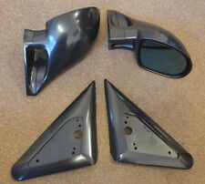 Black Manual M3 Style Mirrors & Base Plates fits Ford Mondeo MK1 MK2 93 - 2000