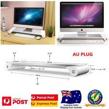 Premium Aluminum Monitor Stand 4 USB Ports for iMac, Mac Mini, Laptop,Desktop