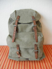 Vintage Swiss Army Military Backpack Rucksack 1954 CH Canvas Salt & Pepper RAR