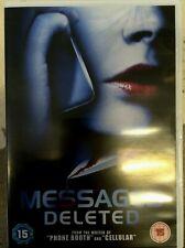 Messages Deleted DVD 2010 Crime Thriller Film Movie w/ Matthew Lillard