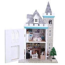3D DIY Dollhouse Handmade Lifelike Miniature Wood Doll House with Furniture Set