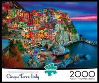 BUFFALO GAMES JIGSAW PUZZLE CINQUE TERRE 2000 PCS VERNAZZA, ITALY #2034