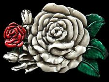 Dozen Red Roses Flowers Belt Buckle Buckles Boucle de Ceinture