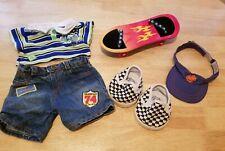 New ListingBuild a Bear Outfit Lot Skateboard Shoes Visor