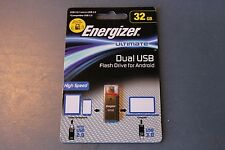 Energizer Ultimate 32GB Flash Drive - Dual USB - Micro Android / PC Expansion